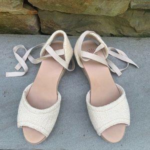 UGG Espadrille Lace Up Wedge Sandal